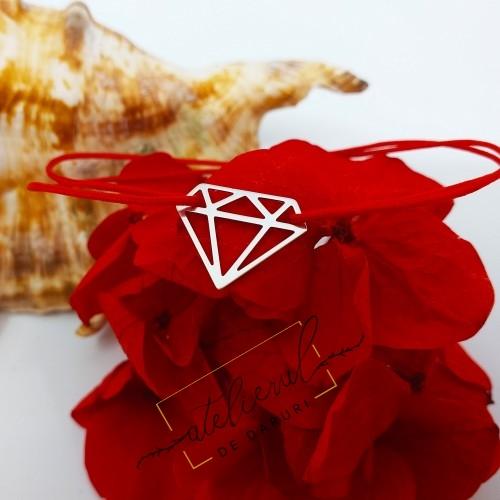 Bratara  forma de diamant -...